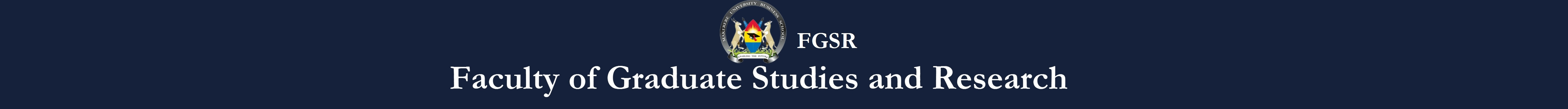 Faculty Of Graduate Studies & Research  Logo